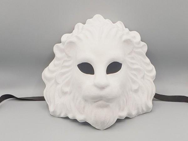 Masque de lion Blanc en papier mâché