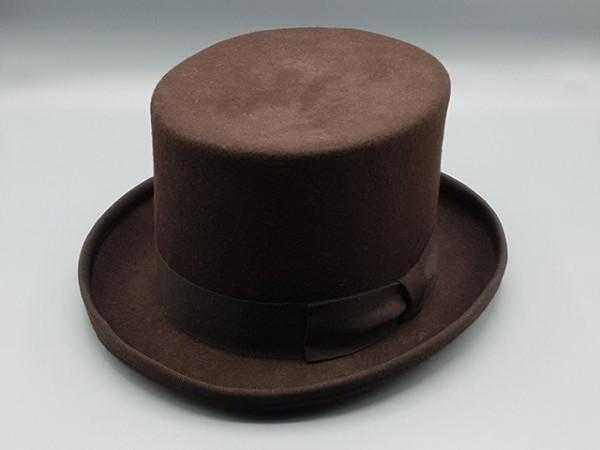 Chapeau Haut de Forme Steampunk marron, small - 56 cm