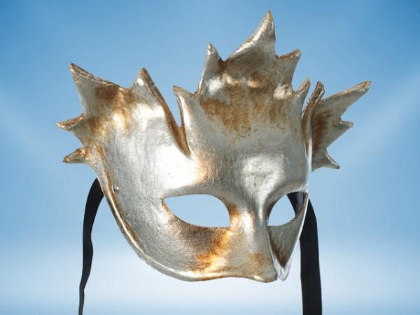 Masque de carnaval Bacchus argenté