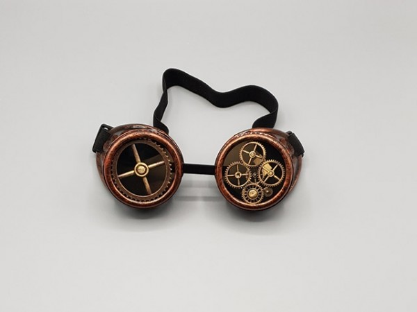 Steampunk goggle copper industrial
