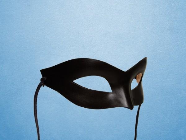 Masque noir en cuir