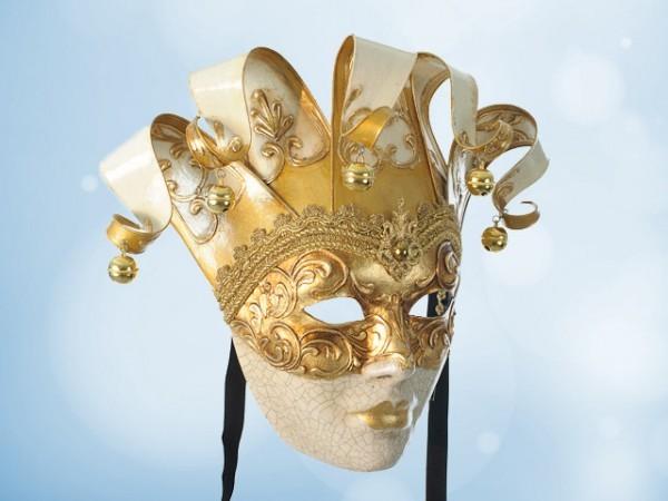 Masque vénitien décoratif en blanc