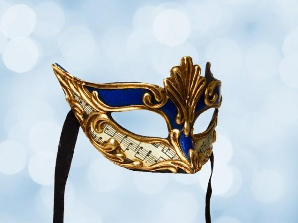 Masque loup bleu