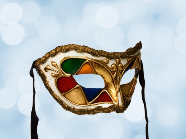 Masque de fête coloré