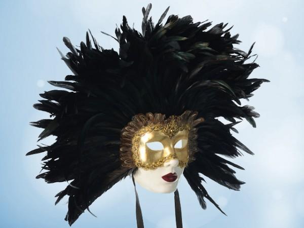 Masque à plumes Les Yeux Grand Fermés