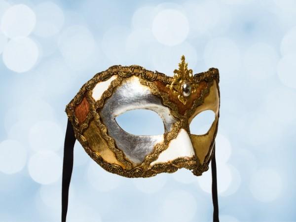 Masque de fête en plaqué or