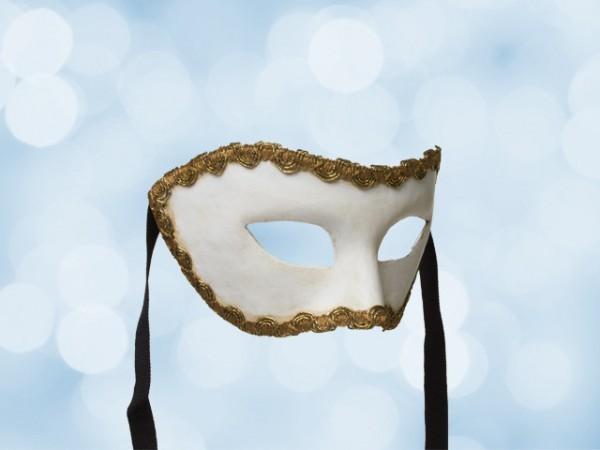 Masque de fête blanc