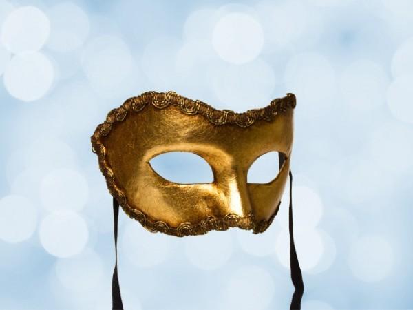 Masque de fête doré