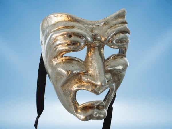 Masque de tragédie en argent