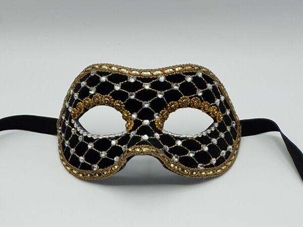 Masque de gala en velours noir