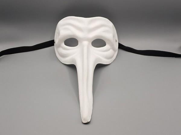 Masque Il Capitano blanc (Le Capitaine ) en papier mâché