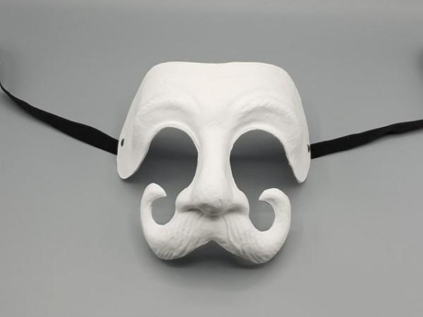 Masque Dottore de la Commedia dell'arte blanc