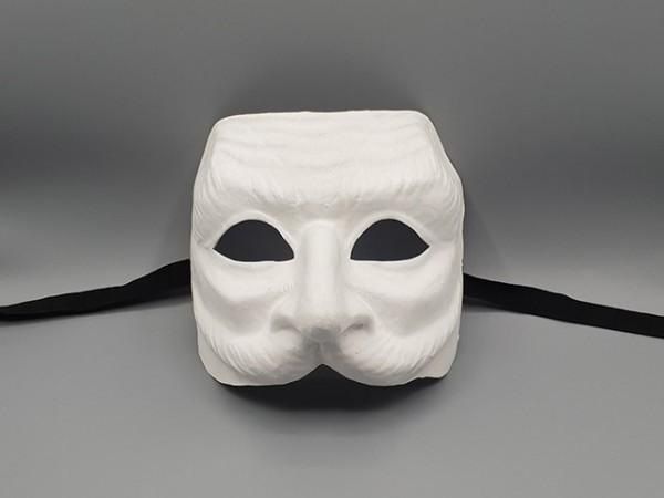 Masque de Pantalon blanc en papier mâché