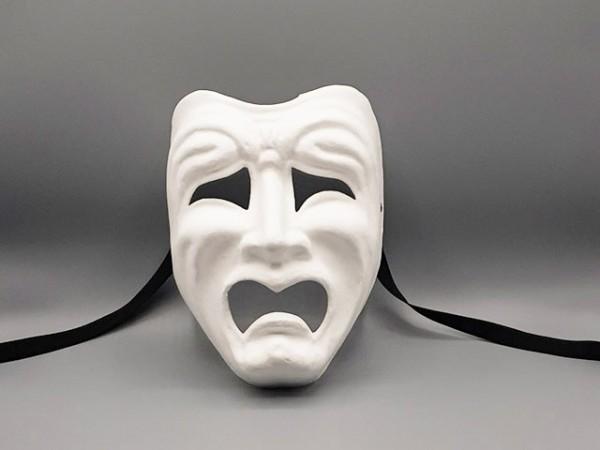 Masque de tragédie, blanc