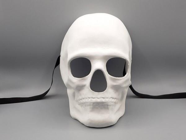 Masque de crâne humain, blanc