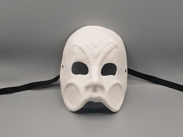 Masque d'Arlequin de la Commedia dell'arte blanc